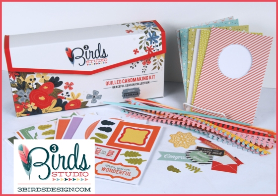 3 Birds Graceful Seasons Quilled Card Kit