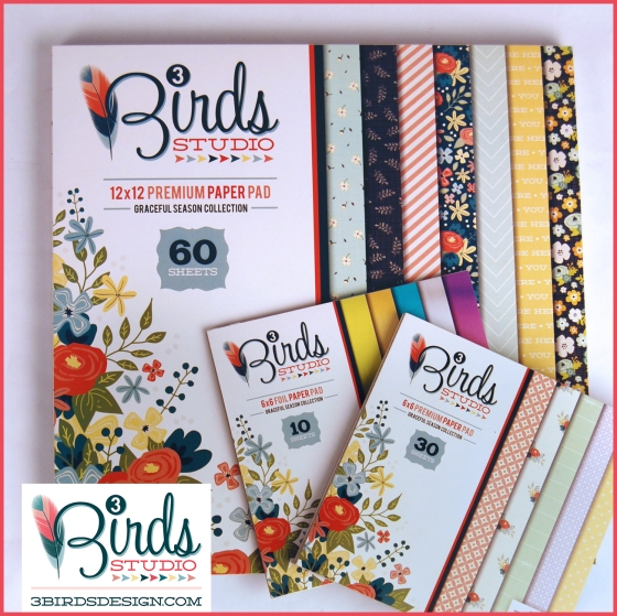 3 Birds Graceful Season Paper Pads