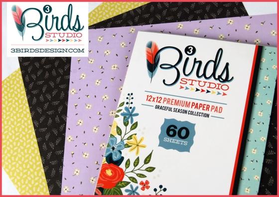 3 Birds Graceful Season Paper Pads