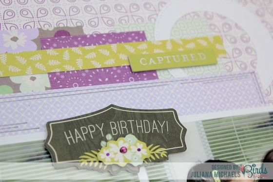 Juliana Michaels Celebrate Scrapbook Page for 3 Birds Studio detail 3