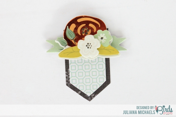 Creating Your Own Layered Embellishment Tutorial by Juliana Michaels for 3 Birds Studio 07