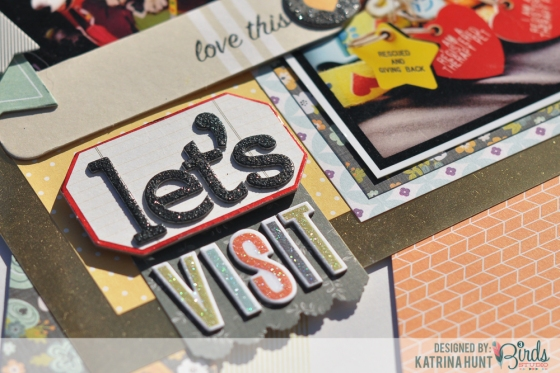 Katrina Hunt Lets Visit Scrapbook Page