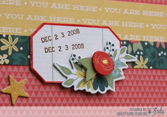 Total Fave Scrapbook Page by Mary Ann Jenkins for 3 Birds Studio detail 1