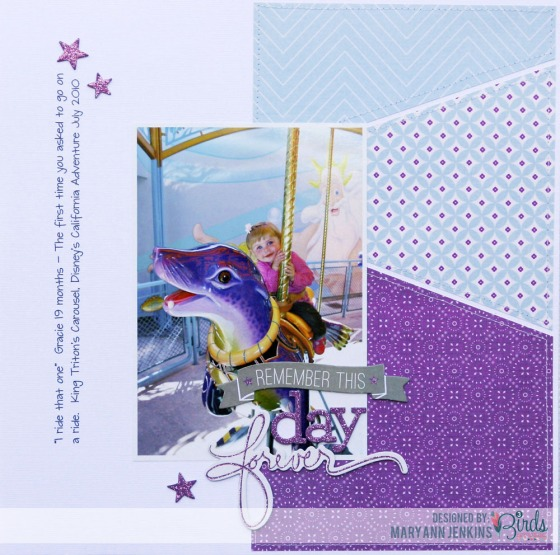 Remember This Day Scrapbook Page by Mary Ann Jenkins for 3 Birds Studio 01