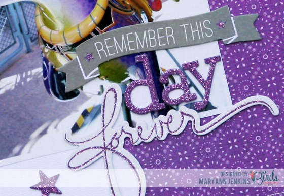 Remember This Day Scrapbook Page by Mary Ann Jenkins for 3 Birds Studio 02