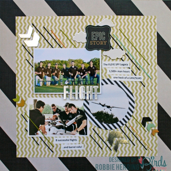 Robbie Herring Epic Story Scrapbook Page for 3 Birds Studio 01