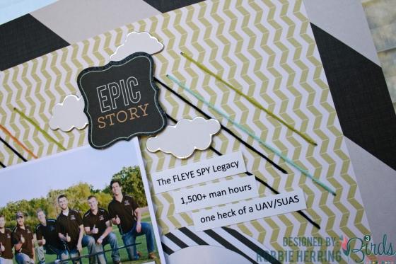 Robbie Herring Epic Story Scrapbook Page for 3 Birds Studio 02