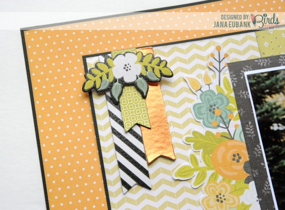 Special Day Scrapbook Page by Jana Eubank for 3 Birds Studio detail 3