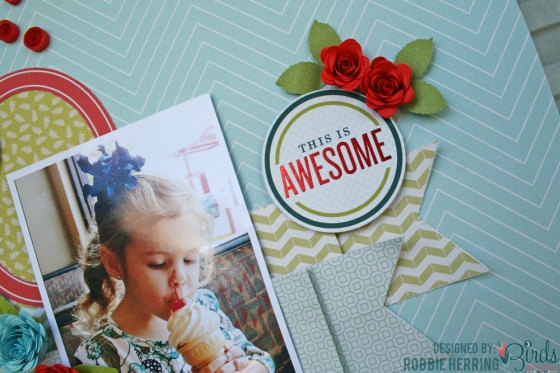Sweet Scrapbook Page by Robbie Herring for 3 Birds Studio 03