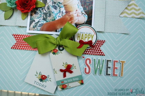 Sweet Scrapbook Page by Robbie Herring for 3 Birds Studio 04