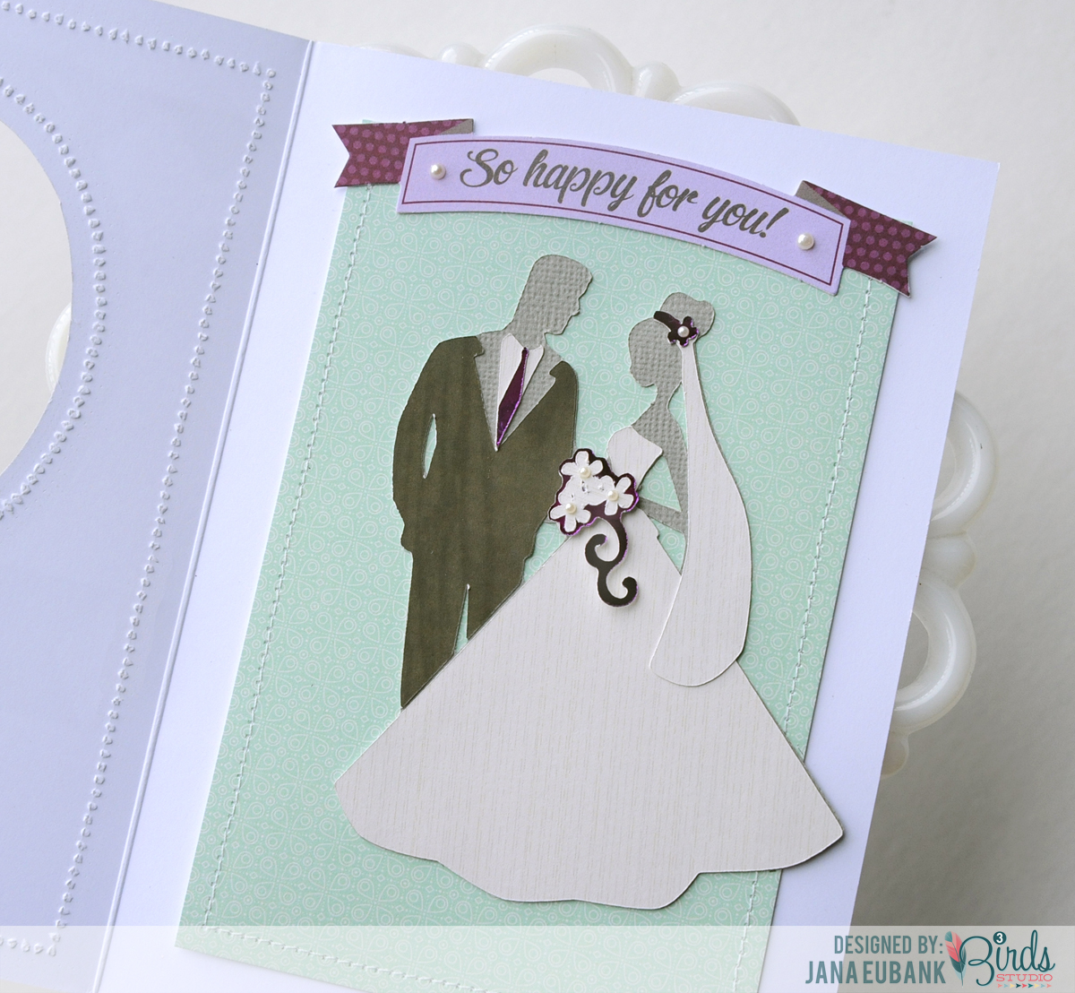 A Quilled Wedding Card 3birds Studio
