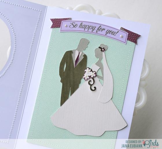 Wedding Card by Jana Eubank for 3 Birds Studio 03