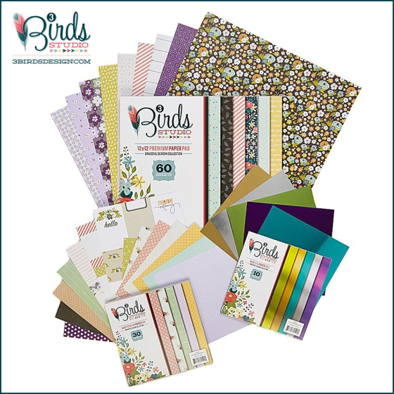 3 Birds Studio Graceful Season Paper Collection