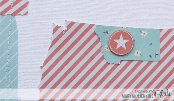 Adventure Scrapbook Page by Mary Ann Jenkins for 3 Birds Studio