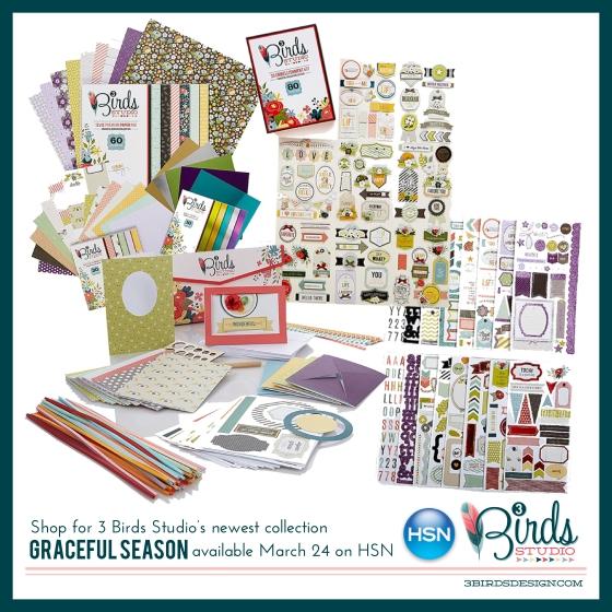 3 Birds Studio Graceful Season Collection on HSN March 24