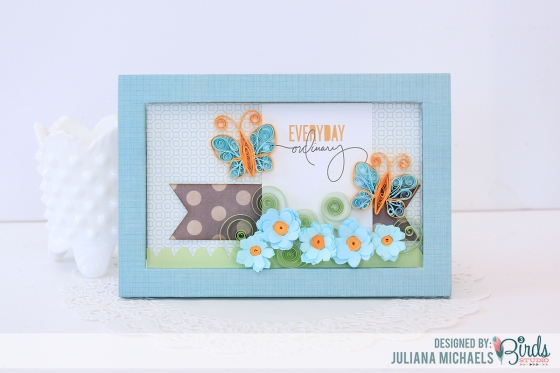 Birthday Greetings Quilled Birthday Set by Juliana Michaels for 3 Birds Studio