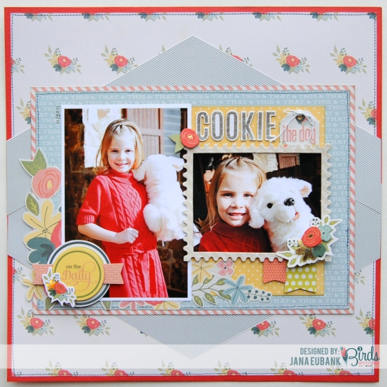 Cookie Scrapbook Page by Jana Eubank for 3 Birds Studio