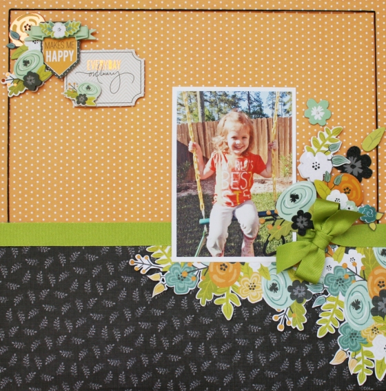 Everyday Ordinary Scrapbook Page by Robbie Herring using 3 Birds Studio Graceful Season Collection available on HSN.com