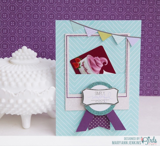 Extra 5 Minutes Gift Card Holder by Mary Ann Jenkins for 3 Birds Studio using the Graceful Season Collection available on HSN.com