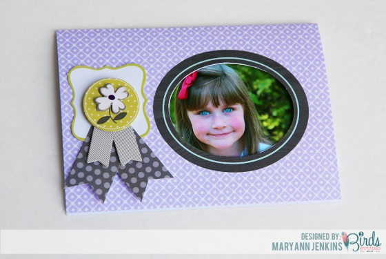Extra 5 Minutes Photo Holder Card by Mary Ann Jenkins for 3 Birds Studio using the Graceful Season Collection available on HSN.com