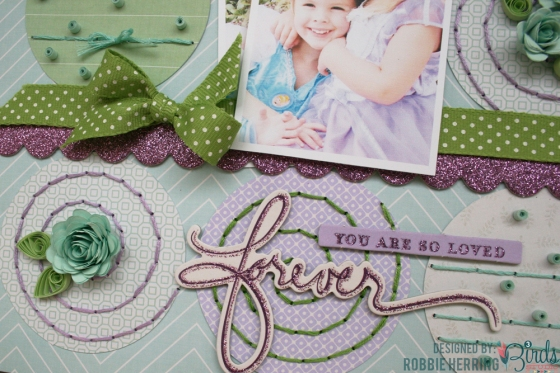 Forever Scrapbook Page by Robbie Herring for 3 Birds Studio using the Graceful Season collection 02