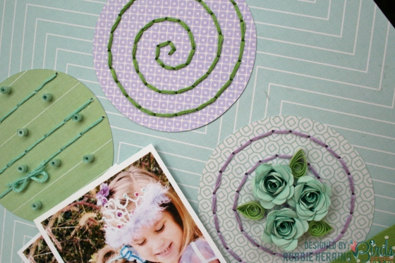 Forever Scrapbook Page by Robbie Herring for 3 Birds Studio using the Graceful Season collection 04