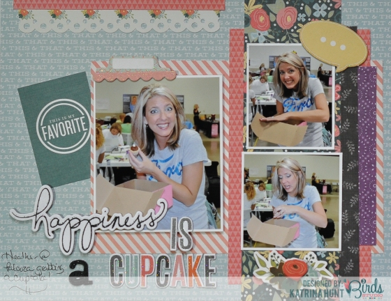 Happiness Is Scrapbook Page by Katrina Hunt for 3 Birds Studio