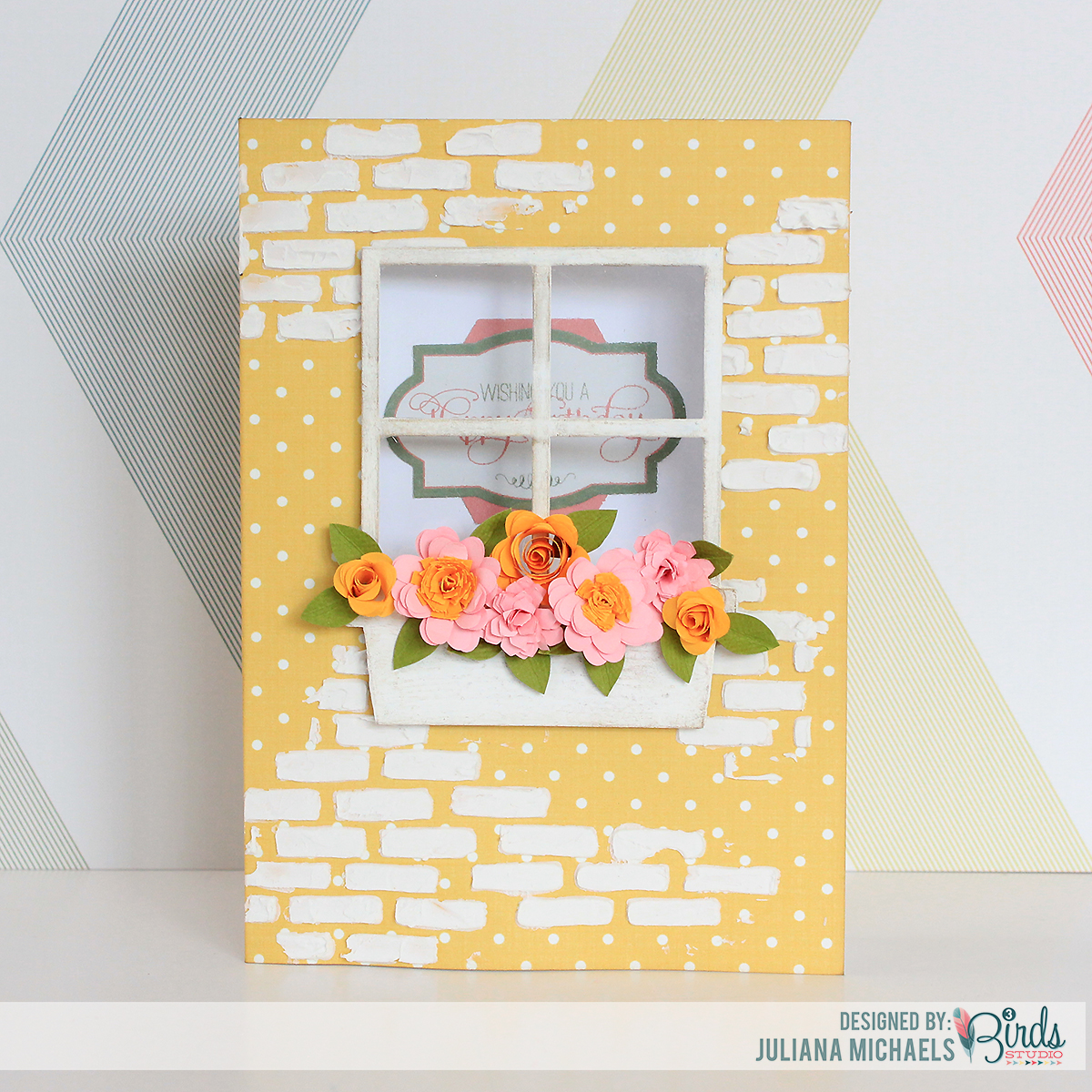 Happy Birthday Window Box Card ~ 3Birds Studio