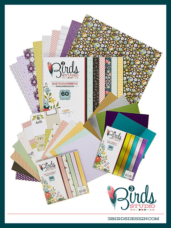 3 Birds Studio Graceful Season Paper Pad Collection on HSN