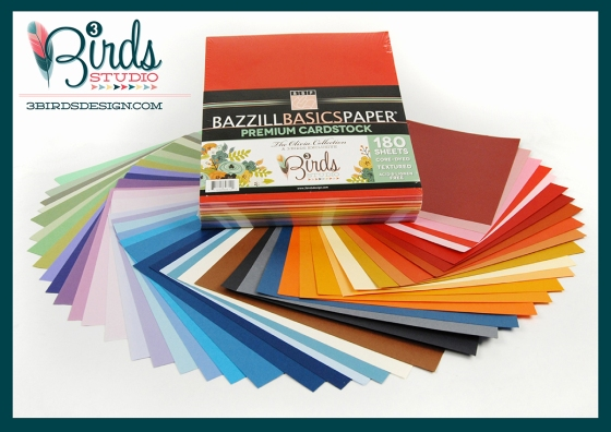 3 Birds Studio Bazzill Basics Olivia Premium Paper Collection on HSN