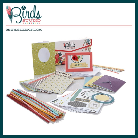 3 Birds Studio Graceful Season Quilled Cardmaking Kit on HSN