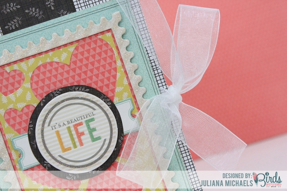 Using Scraps to decorate a notebook by Juliana Michaels using 3 Birds Studio Graceful Season Collection available on HSN.com
