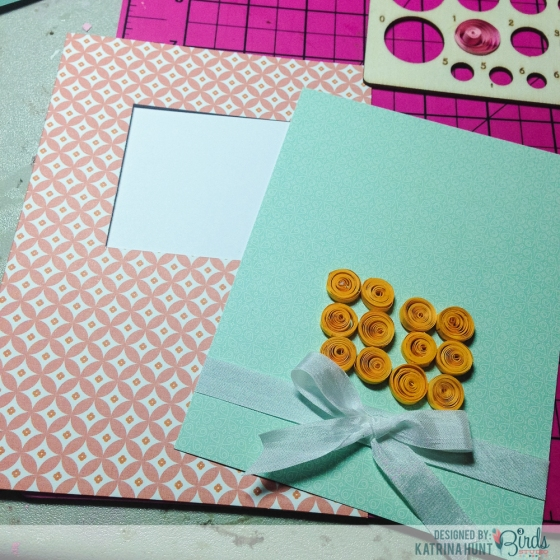 Quilled Birthday Cupcake Tutorial by Katrina Hunt for 3 Birds Studio 3