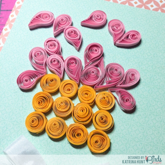 Quilled Birthday Cupcake Tutorial by Katrina Hunt for 3 Birds Studio 4