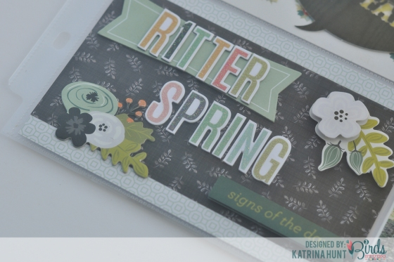 Ritter Spring Pocket Page by Katrina Hunt for 3 Birds Studio using Graceful Season Collection available on HSN.com