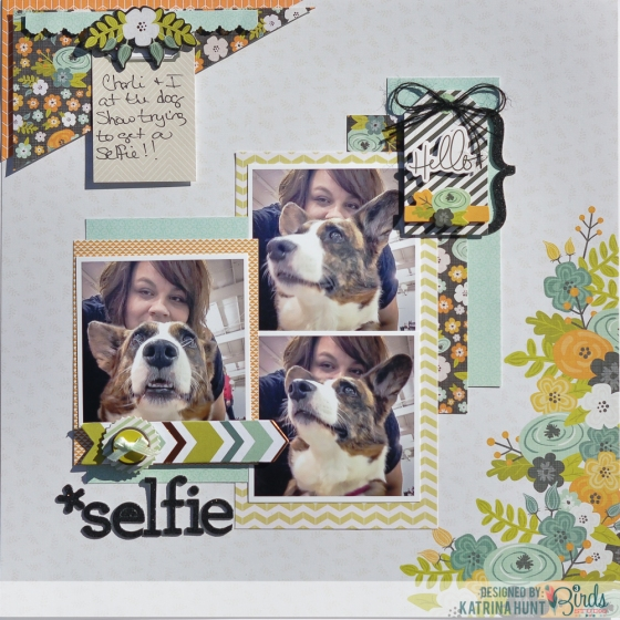 Selfie Scrapbook Page by Katrina Hunt for 3 Birds Studio