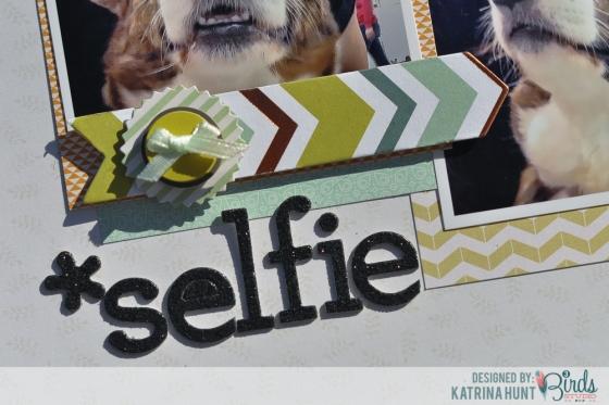 Selfie Scrapbook Page by Katrina Hunt for 3 Birds Studio