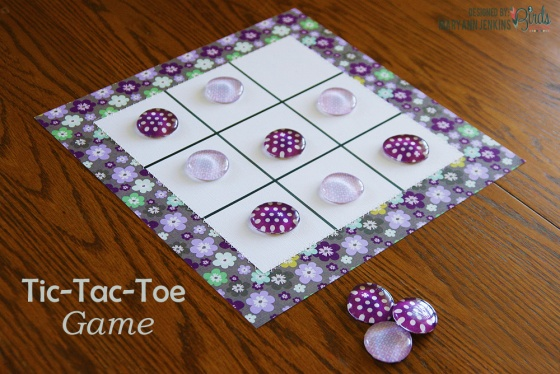 Tic Tac Toe Game by Mary Ann Jenkins for 3 Birds Studio using Graceful Season 1