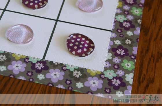 Tic Tac Toe Game by Mary Ann Jenkins for 3 Birds Studio using Graceful Season 4