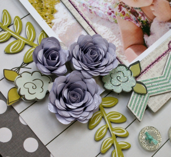 Today Scrapbook Page by Robbie Herring for 3 Birds Studio using their Graceful Season Collection available on HSN.com