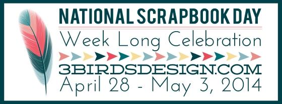 National Scrapbook Day 3 Birds Studio 3birdsdesign.com