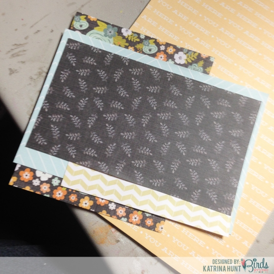 Adding Layers on Altered Clipboard by Katrina Hunt  for 3 Birds Studio using the Graceful Season Collection 3birdsdesign.com