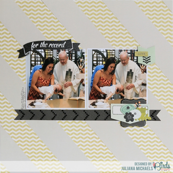 For The Record Scrapbook Page by Juliana Michaels for 3 Birds Studio using Graceful Season HSN.com 3birdsdesign.com