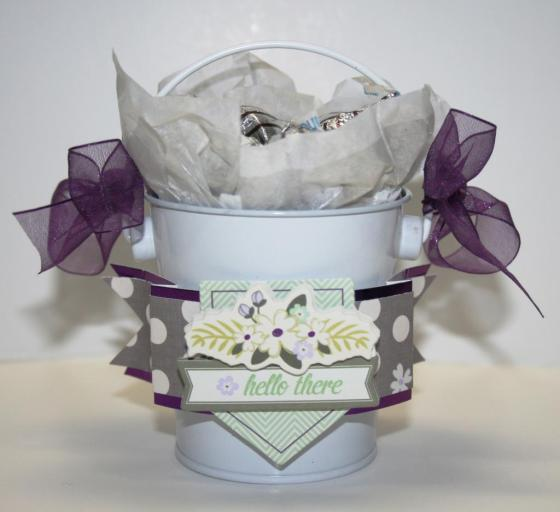 Hello There Gift Bucket and Banner Tutorial by Robbie Herring using 3 Birds Studio Graceful Season collection HSN.com 3birdsdesign.com