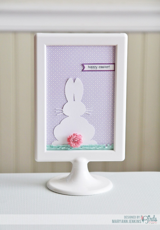 Hoppy Easter Bunny Home Decor Frame by Mary Ann Jenkins for 3 Birds Studio using Graceful Season collection available at HSN.com