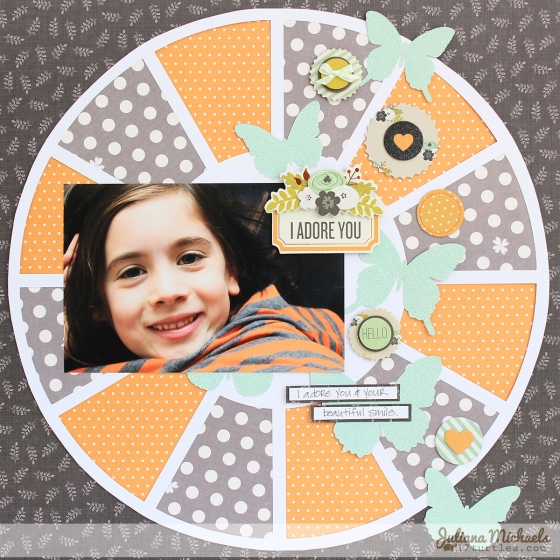 I Adore You Scrapbook Page by Juliana Michaels 3 Birds Studio Graceful Season Collection HSN.com 3birdsdesign.com