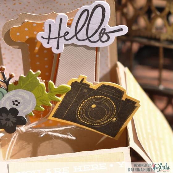 Hello You Box Card by Katrina Hunt for 3 Birds Studio Graceful Season Midday Medley Stamp Kit HSN.com 3birdsdesign.com