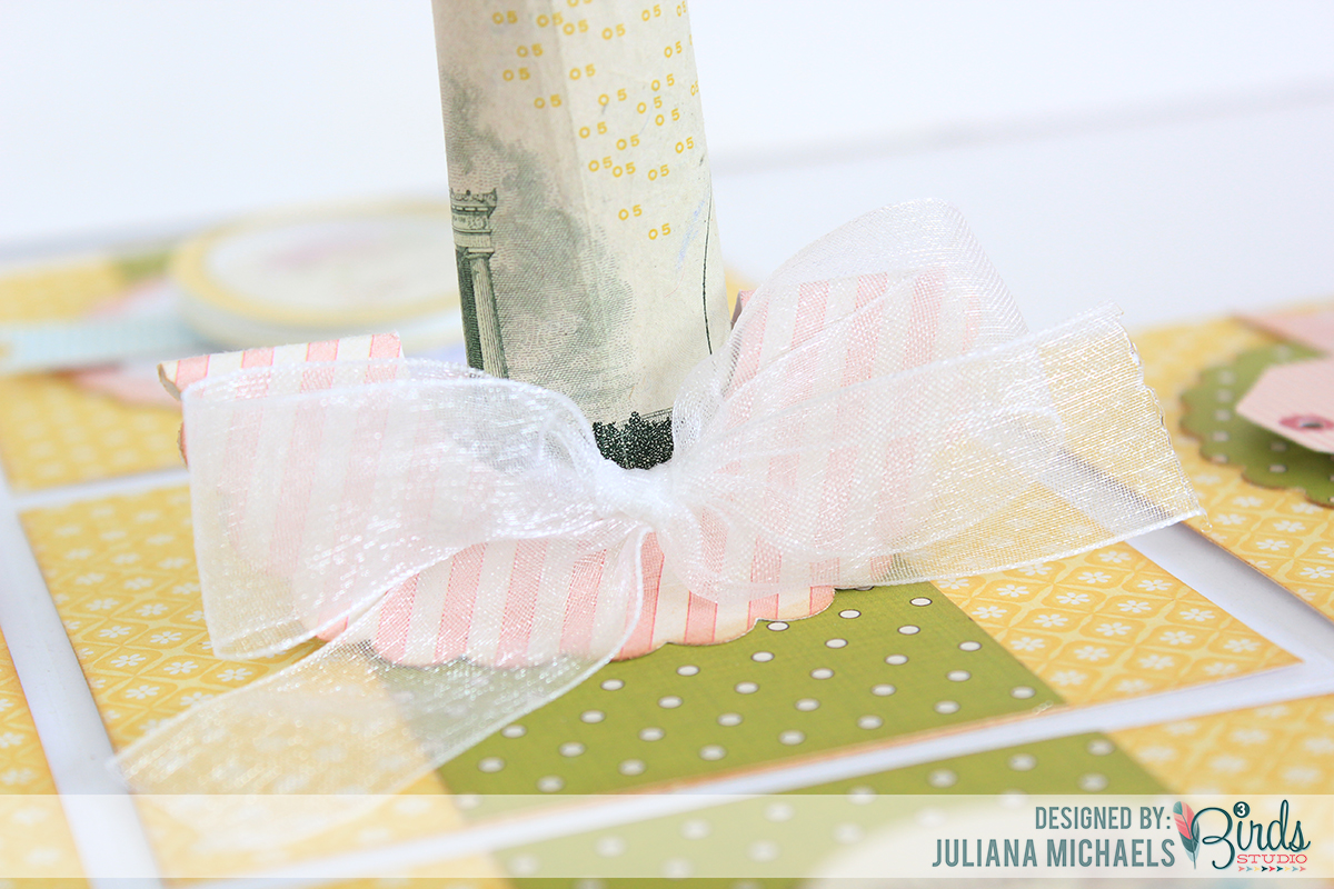 created a money holder using a large scallop circle punch and ...