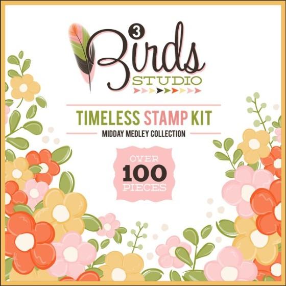 Midday Medley Timeless Stamp Kit HSN.com 3birdsdesign.com