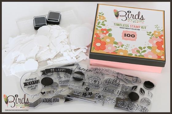 National Scrapbook Day Giveaway 3 Birds Studio Midday Medley Timeless Stamp Kit HSN.com 3birdsdesign.com